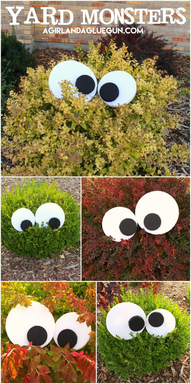 yard monsters fun halloween decorationseasy - Cute Cheap Halloween Decorations