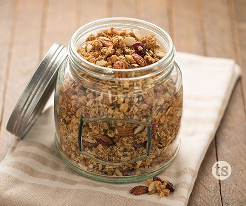 Make your own tasty granola with our Almond Cranberry Protein Cookie Mix. Perfect with yogurt or as a snack.