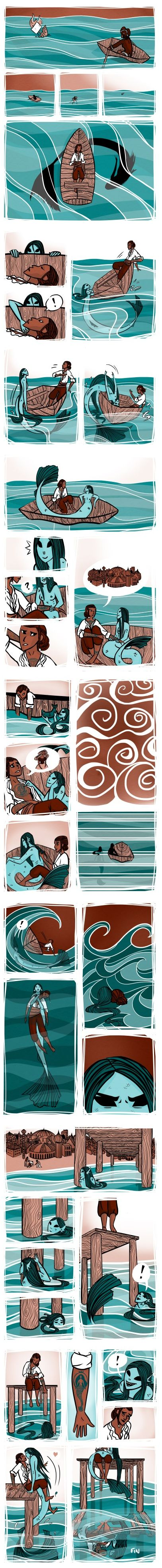 A little love story about mermaids and tattoos