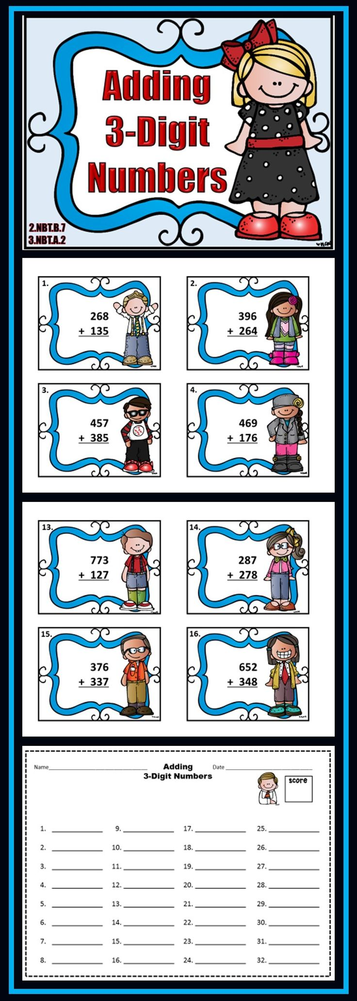 45 best Adding Larger Numbers images on Pinterest | Second grade ...