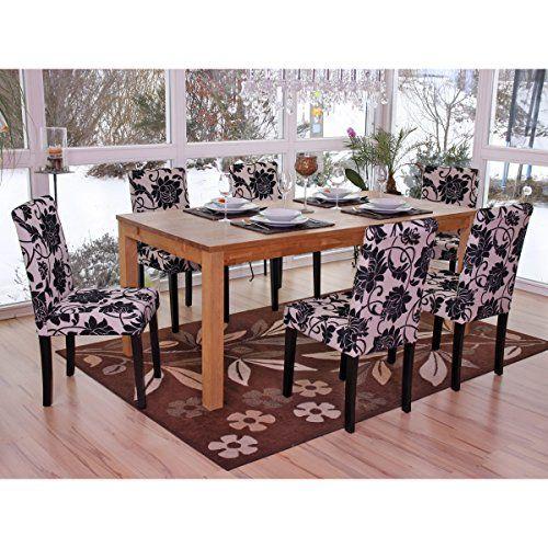 Set 6x sedie Littau tessuto per sala da pranzo 43x56x90cm   http://www.mobilionline.info/shop/sala-da-pranzo/mobile-completo-da-sala-da-pranzo/set-6x-sedie-littau-tessuto-per-sala-da-pranzo-43x56x90cm-fiori-piedi-scuri/   #saladapranzo #mobili #mobilecompleto