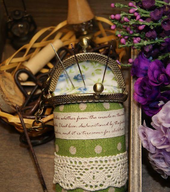 Лавандовый домик: Игольница, фермуар и горошек