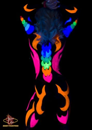 Glow - Black Light Body Paint || Skin City Body Painting ...