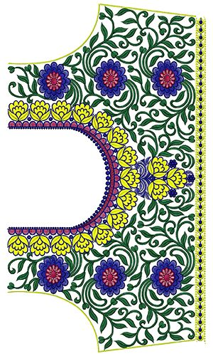 9760 Blouse Embroidery Design