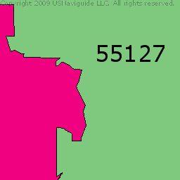 Vadnais Heights, Minnesota Zip Code Boundary Map (MN)