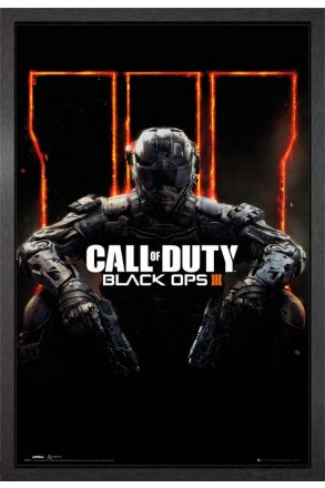 Call of Duty Black Ops 3 Cover Panned Out Framed Maxi Poster
