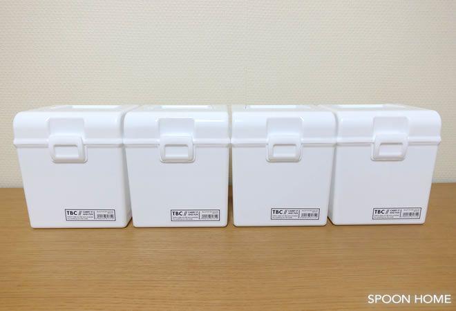 セリア タフボックスcd の収納アイデア 仕切りを入れる使い方が便利 ブログレポート 収納 アイデア グッズ 収納 収納