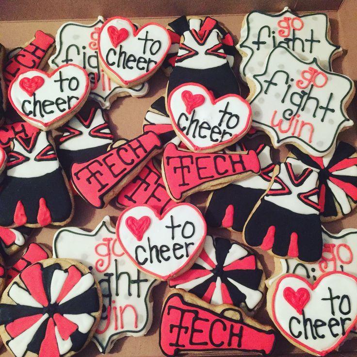Texas Tech Cheer Decorated Sugar Cookies in 2020 Sugar