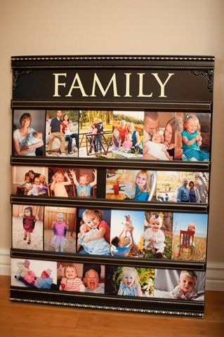 Love this!Family Pictures, Pictures Ideas, Families Pictures, Big Frames, Pictures Display, Cute Ideas, Picture Displays, Neat Ideas, Interesting Ideas