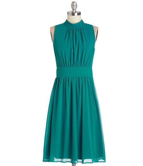 TW_5059 Short Teal Blue Dress