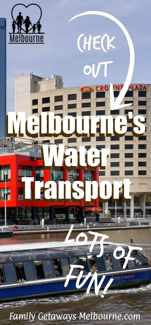 Melbourne water transport is unique. Shuttling you from one end of the city to the other or transporting you across Port Phillip Bay, it's a fun way to see the city and other areas of the state. Click the image for more details.