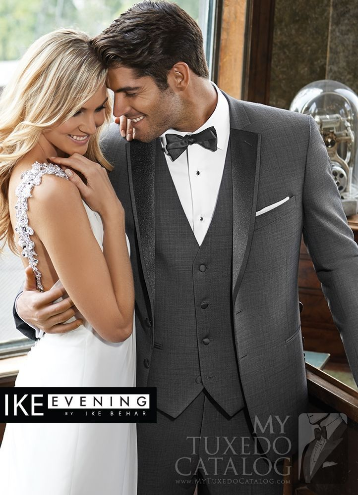 Asheville Tuxedo by Mitchell's - 'Grayson' -  Medium Grey - Ike Behar - Slim Fit