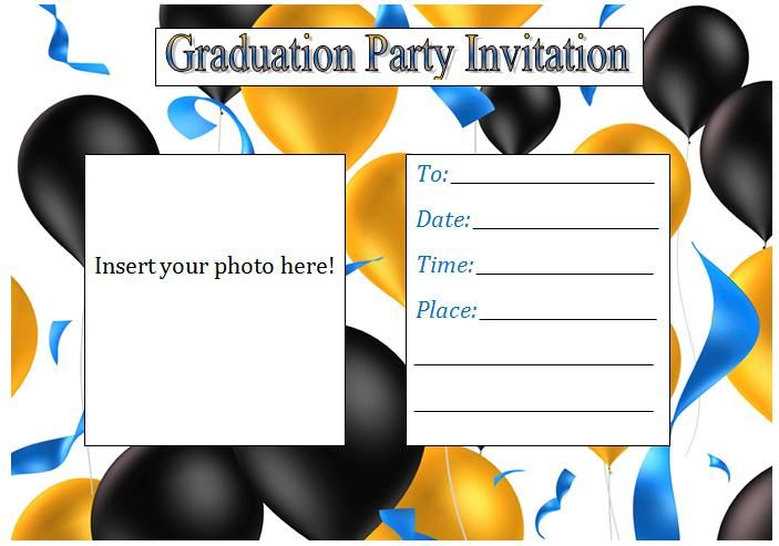 Free Printable Graduation Invitation Templates 2013 2019