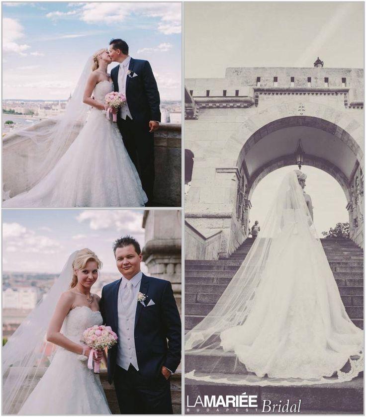 Uceda esküvői ruha - Pronovias kollekció - Andrea menyasszonyunk - La Mariée Budapest http://lamariee.hu/eskuvoi-ruha/pronovias-od/uceda