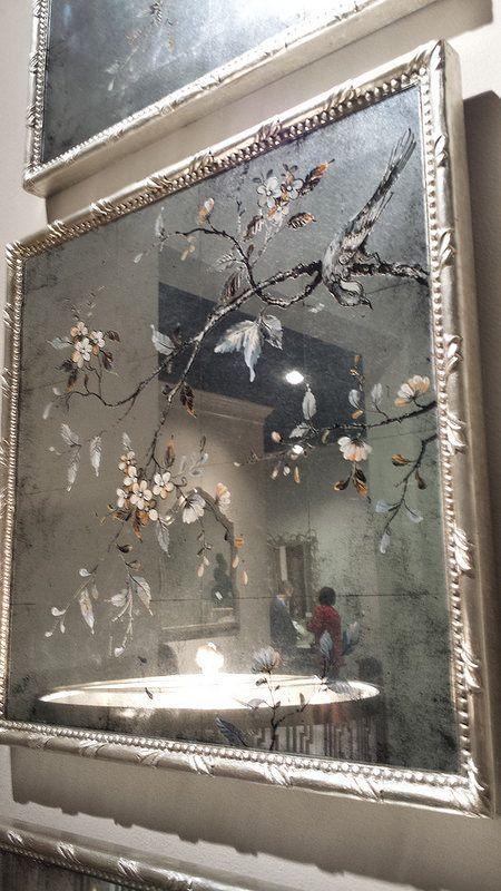 Botanical on Antiqued Mirror - John-Richard showroom | HPMKT, furniture, interiordesign, interiors, homedecor, urban customfurniture , home furniture, design furniture. Discover the events at: http://www.highpointmarket.org/event