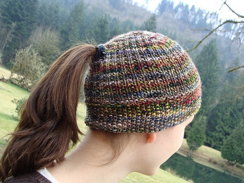 Knitting Pattern Ponytail Hat : Plant a Seed Hat pattern by Reenie Hanlin Ribs, Libraries and Seeded