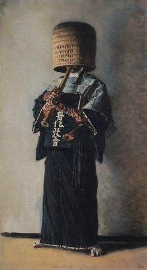 Японский нищий. Василий Верещагин. Картина, портрет, фото, фотография