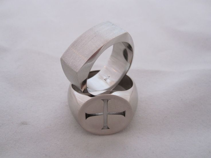 wedding band ideas in white gold and Palladium  by seventysixdesign . custom made Jewellery