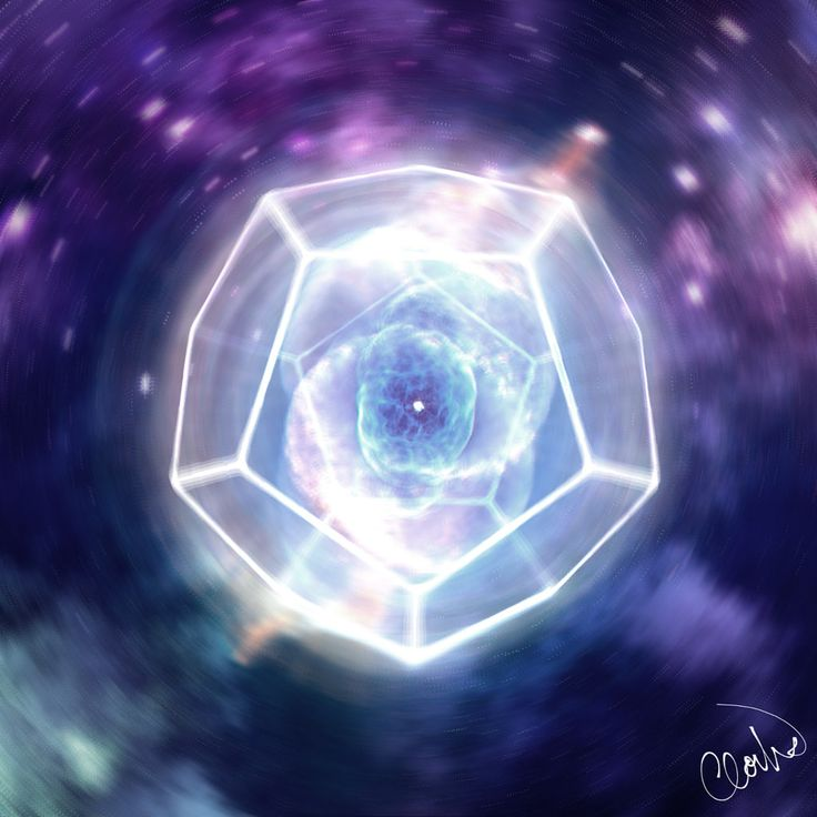 https://flic.kr/p/TwUnGC | Graphic_art_CloudART / Universe / Dodecahedron / meaning of life / mindfullness / playing with lights / supernova / psychedelic art / blue / purple / shine / white / Gimp