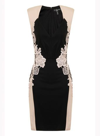 Perfect bridesmaid dress Dorothy Perkins - Black Cream Bodycon Dress