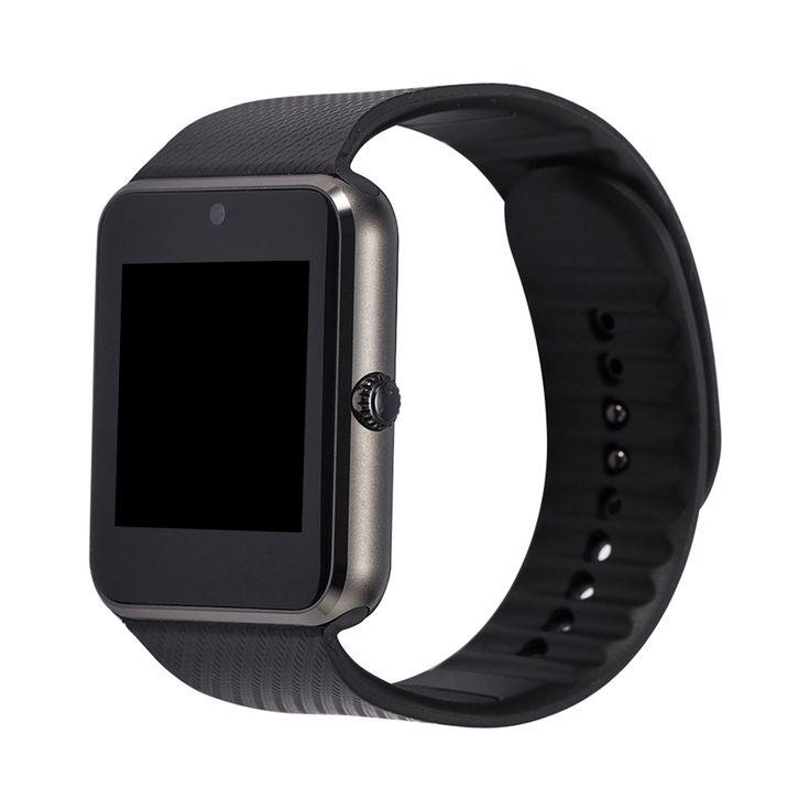 Gt08 smart watch jam dukungan kartu sim tf konektivitas bluetooth untuk ios android phone