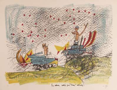 "Matta ""Les voleurs volés par ""Leurs Volants"""", 1967. Litografía sobre Piedra de 44,5 x 58,5 cm., Papel Arches de 250 gr. de medidas 50 67x 66 cm. Ej.: 99 + XXV HC #art #litograph"