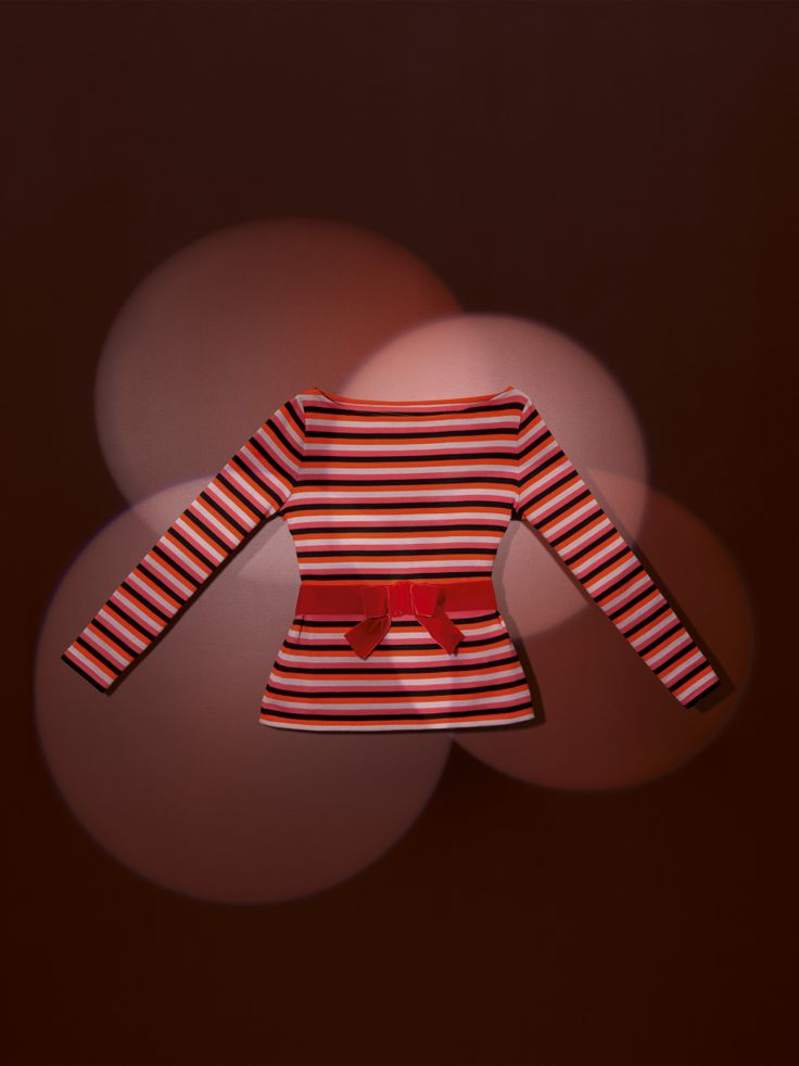 women's heavy jersey breton top with matching stripes with its very feminine boat neck and a fitted waist with a detachable black velvet belt, with a pre-shaped bow - #womenswear #bretontop #christianlacroix #PetitBateau http://www.petit-bateau.fr?CMP=SOC_11732&SOU=&TYP=SOC&KW=pinterest
