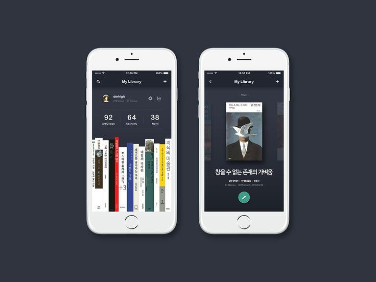 ReadNight Application on Behance