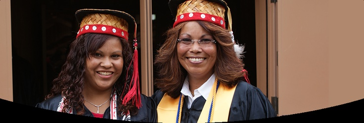 Woven Graduation Caps-Northwestern Indian College-Lummi Reservation, Washington