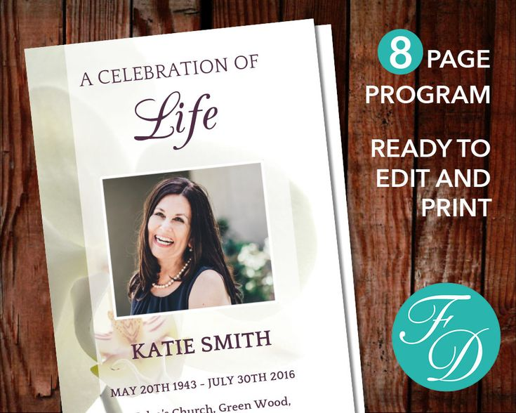 175 best 8 Page Funeral Program Templates images on Pinterest - free funeral program templates download