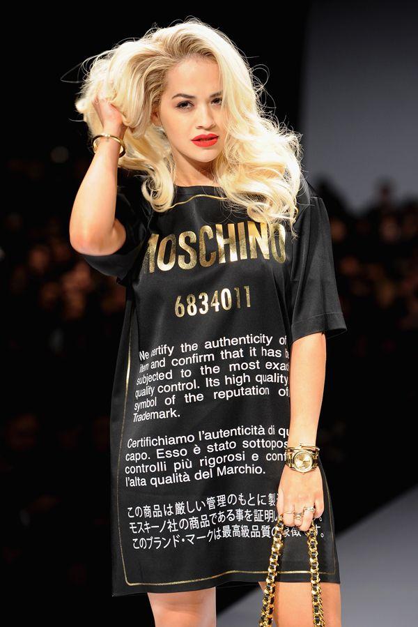 Rita Ora Catwalk For Moschino