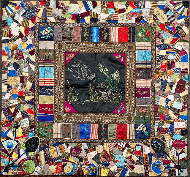 crazy quilts in museums | crazy chase overall untitled crazy quilt acquired by shelburne museum ...