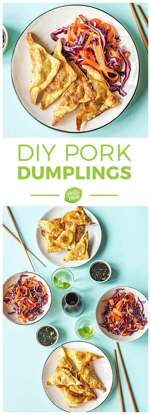 DIY asian-inspired porn dumplings | More easy recipes on hellofresh.com