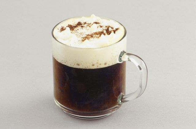 Dark roasted espresso plus hot milk creates low-acid coffee.