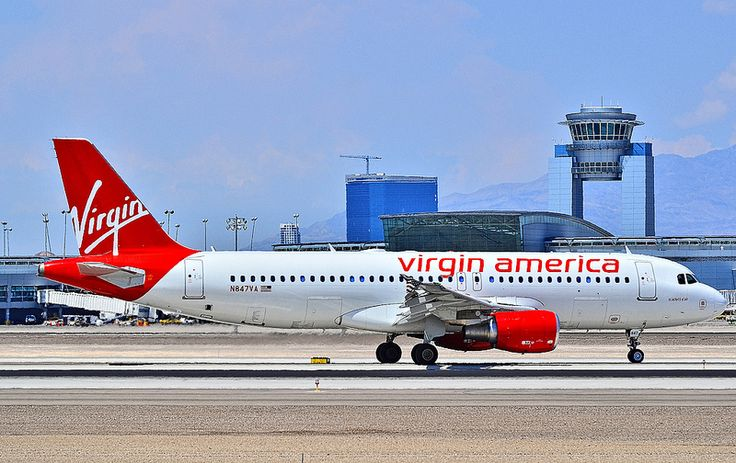 "Virgin America Airbus A320-200 (named ""Scarlett O' Air"")"