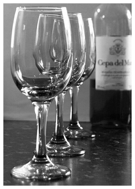 Wine  Glass and Bottle