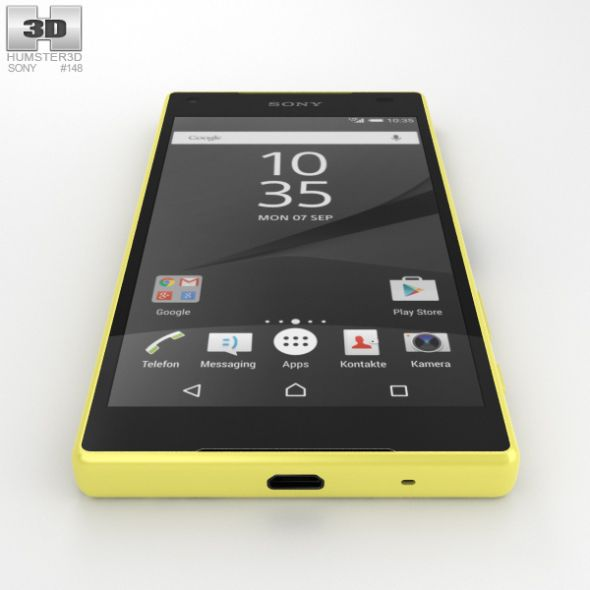 Sony Xperia Z5 Compact Yellow With Images Sony Xperia Sony
