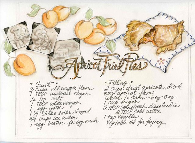 Apricot fried pie recipe, Heather Davulcu, Oh My! Handmade Kitchen Party