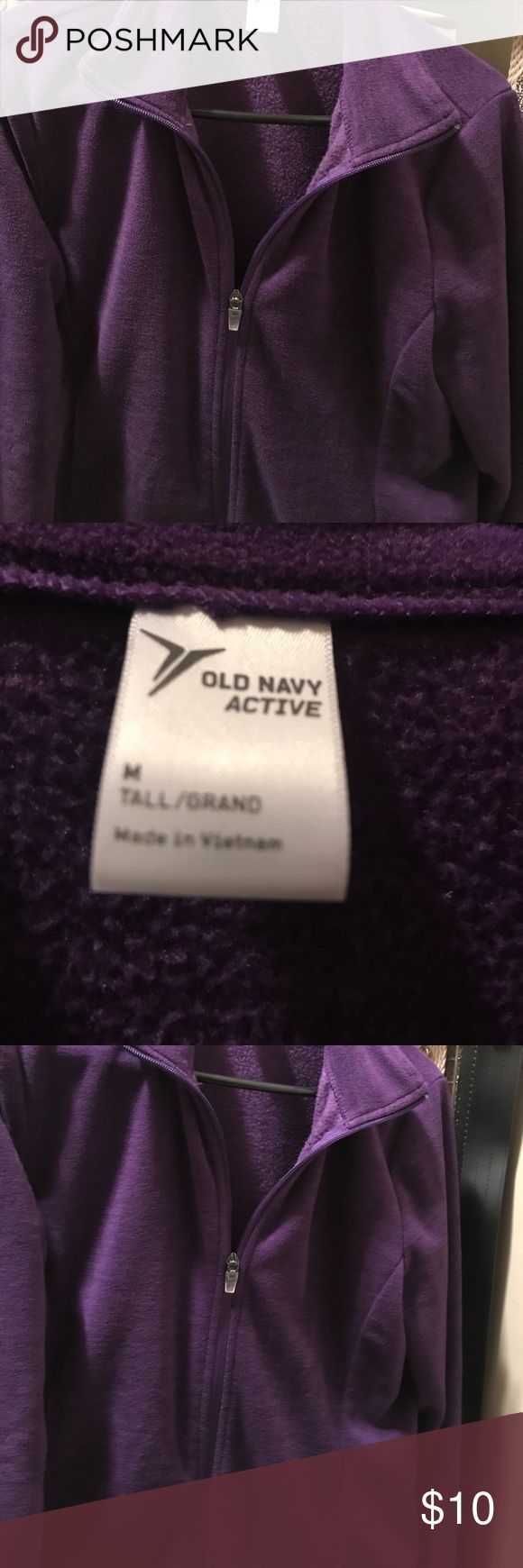 NWOT old navy fleece medium tall NWOT old navy fleece zip up.  Size medium tall.  Dark purple.  Great fall color.  Very soft.  Bundle and save!!! Old Navy Jackets & Coats