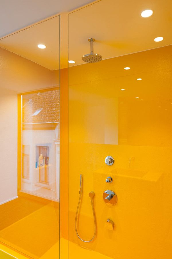 1000 images about mustard home decor on pinterest for Bright yellow bathroom ideas