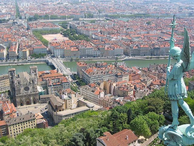 Vieux Lyon from Fourvière, France par Pierre Metivier sur Flickr.