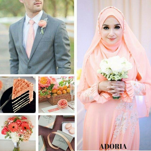 Peach & grey wedding ideas @adoria.my
