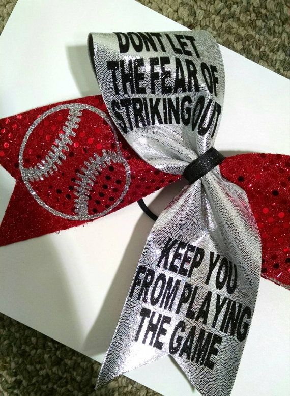 Softball Bow Custom Softball Bow Big Softball Bow by CraftyOhBows
