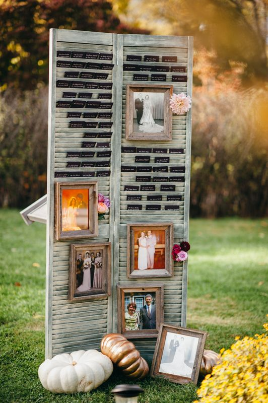 Old Shutter Could Be Used For Displaying Old Family