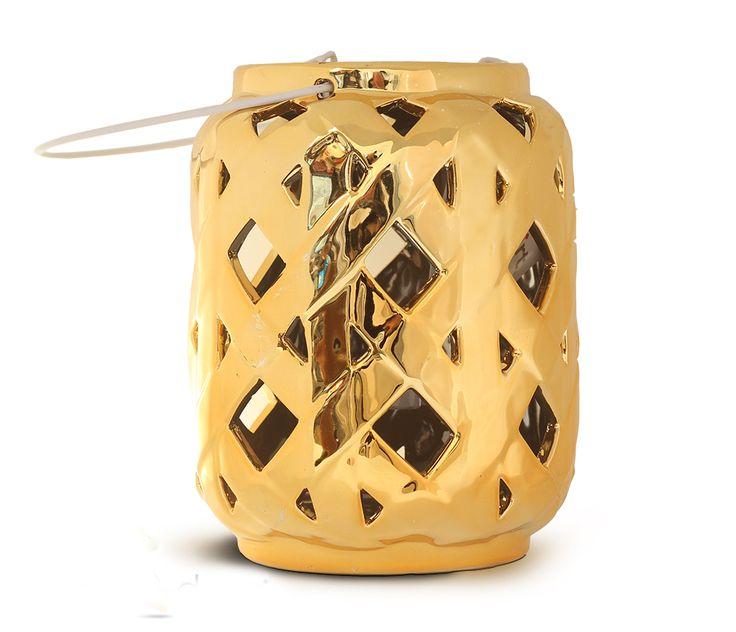 Φανάρι Διάτρητο Χρυσό, 10€, http://www.lovedeco.gr/p.Fanari-Diatrito-CHryso.786226.html