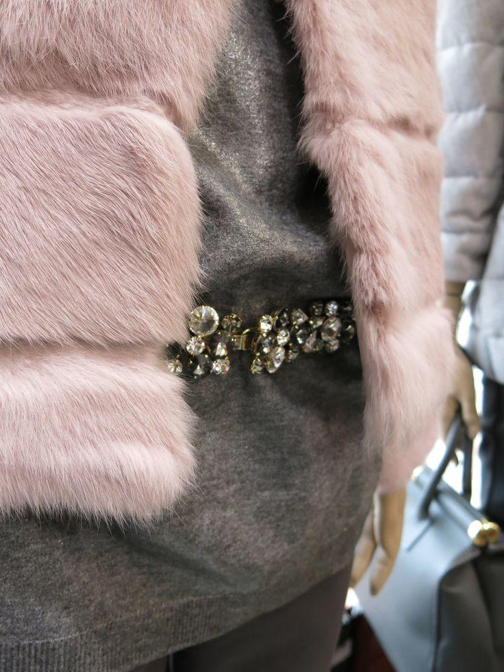 #pink&grey #pink #grey #fur #pinkfur #grey #bijouxbelt #belt #fashion #fashion2014 #pigal #pigalboutique www.pigal.com