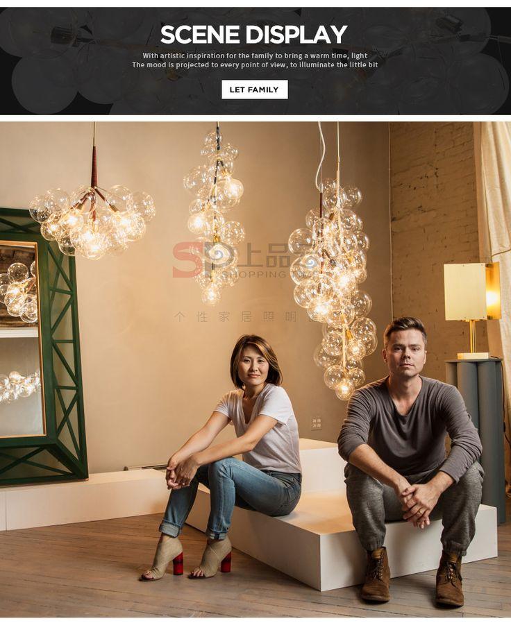 Персонализированные дизайнер ресторан люстра IKEA стеклянный пузырь кафе креативного освещения гостиной лампы Северной Европы - Taobao