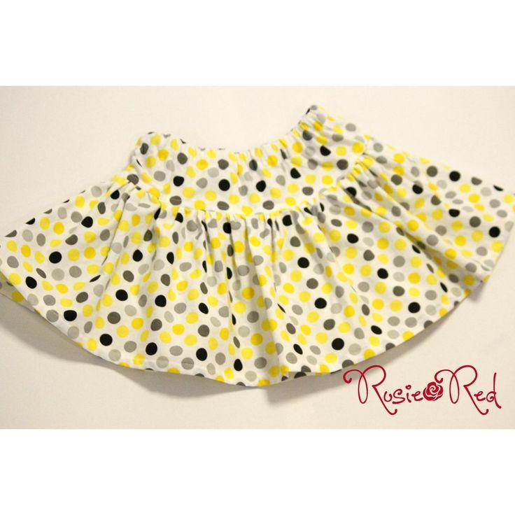 $30.00 SIZE 4 Yellow Spot twirly skirt by RosieRed on Handmade Australia