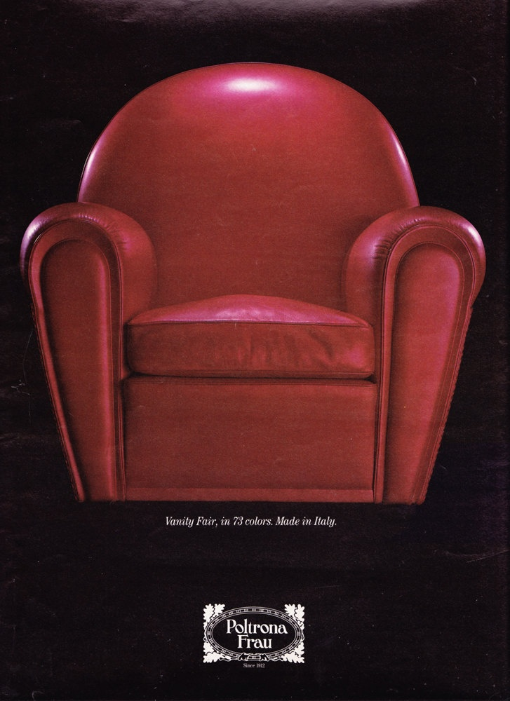 Beautiful 1990 Ad Red Chair Vanity Fair By Poltrona Frau In Metropolis Furniture  Design Italian   Free U.S. Shipping. $20.00, Via Etsy.   Chair 椅子    Pinterest   ...
