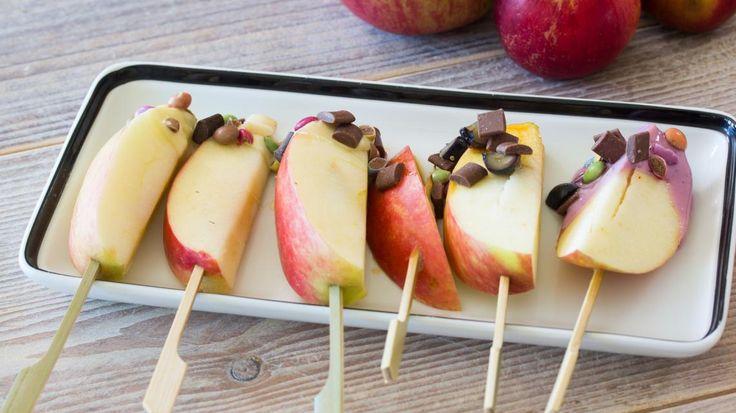 Kinderspel: appelhapjes met heerlijke toppings | VTM Koken